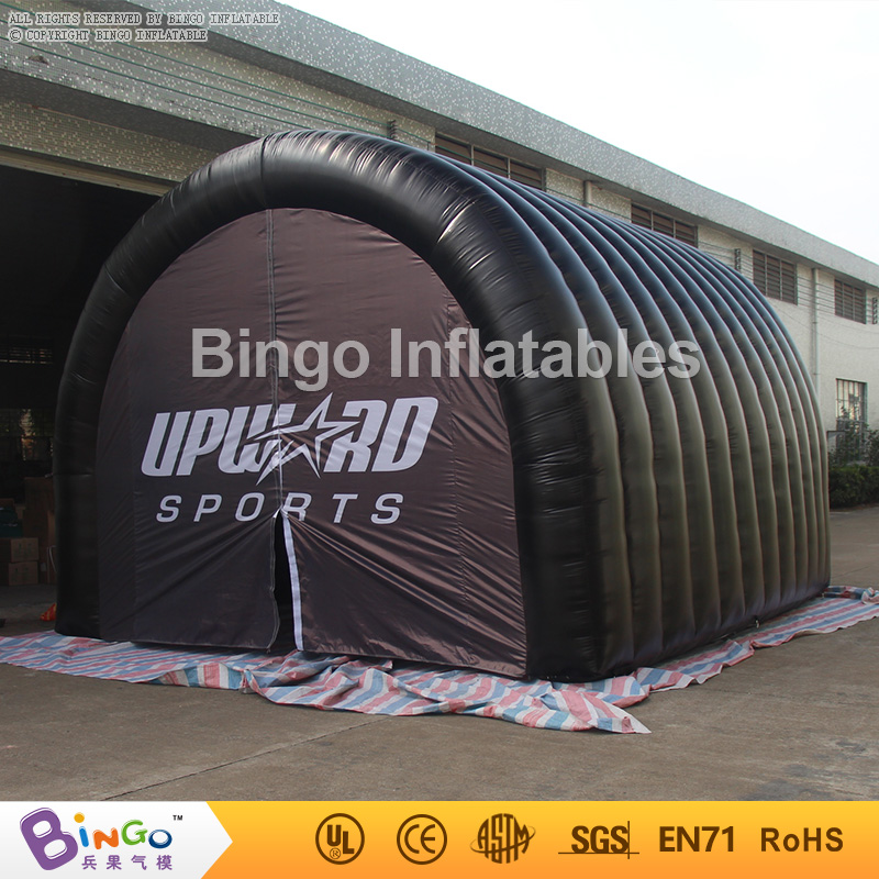 black inflatable sports tunnel,inflatable soccer football entrance tunnle