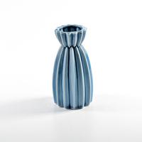 Chinese manufacture light blue on-glazed flower porcelain vase