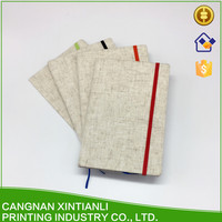 Promotional Luxury Style Printed linen notebooks for school