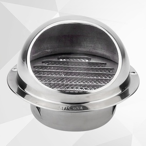 The Latest Stainless Steel Waterproof Round Air Vent Cowl Cap Roof Vent Cover for HVAC Air Conditioning Ventilation System