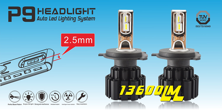 fiat palio fog lamp TOP Bright 13600lm P9 h7 pk h4 led lights for vehicle hid kit l5 4800lm xhp50 100w led