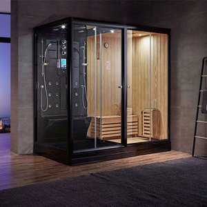 hot sale WG-U882 wood steam bath combined wet steam shower room with stove