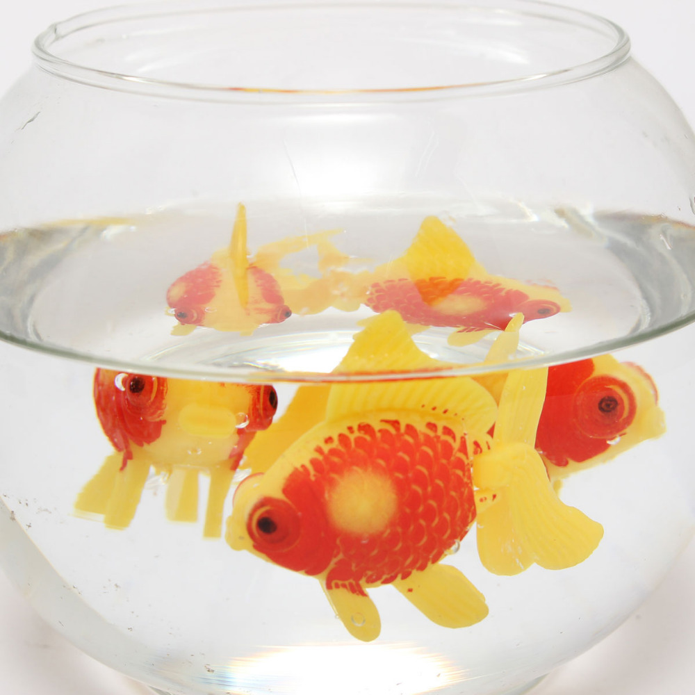 Aquarium aquarium plastic zwemmen kunstmatige nep goud vis for Fake fish that swim