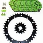 1997 1998 1999 2000 Yamaha YFM350 350 Warrior Green O Ring Chain Sprocket 14/41