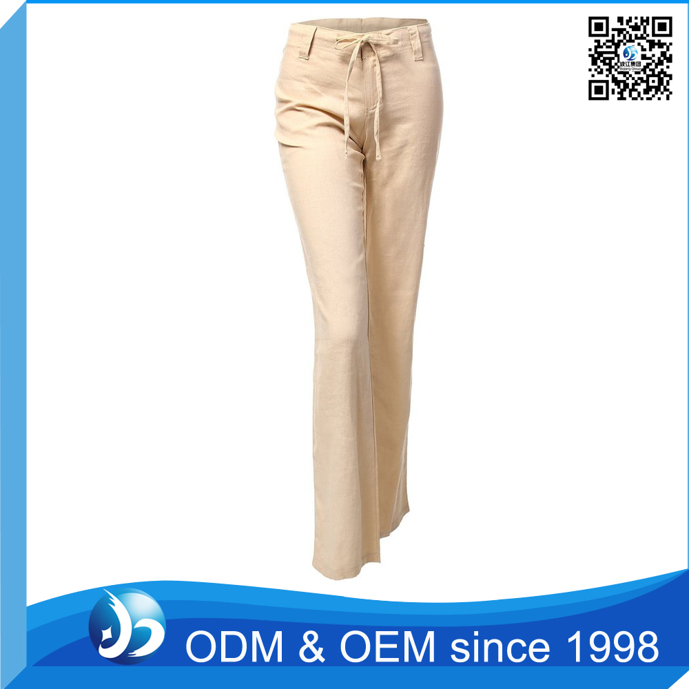 Customized Ladies Office Popular Khaki Trousers