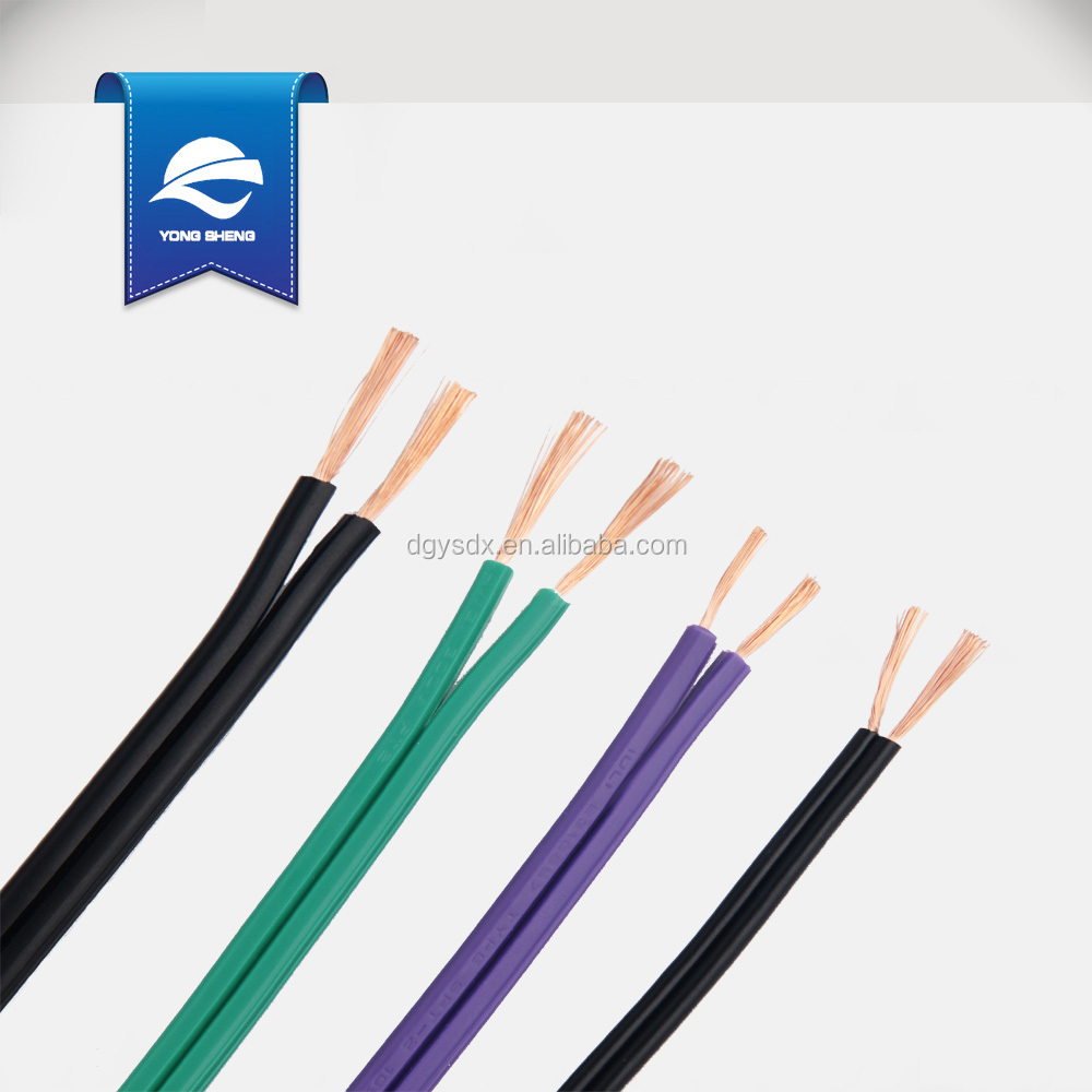 Spt-1 18awg 2 Core Copper Flat Ribbon Wire Cable With Ul Approval ...