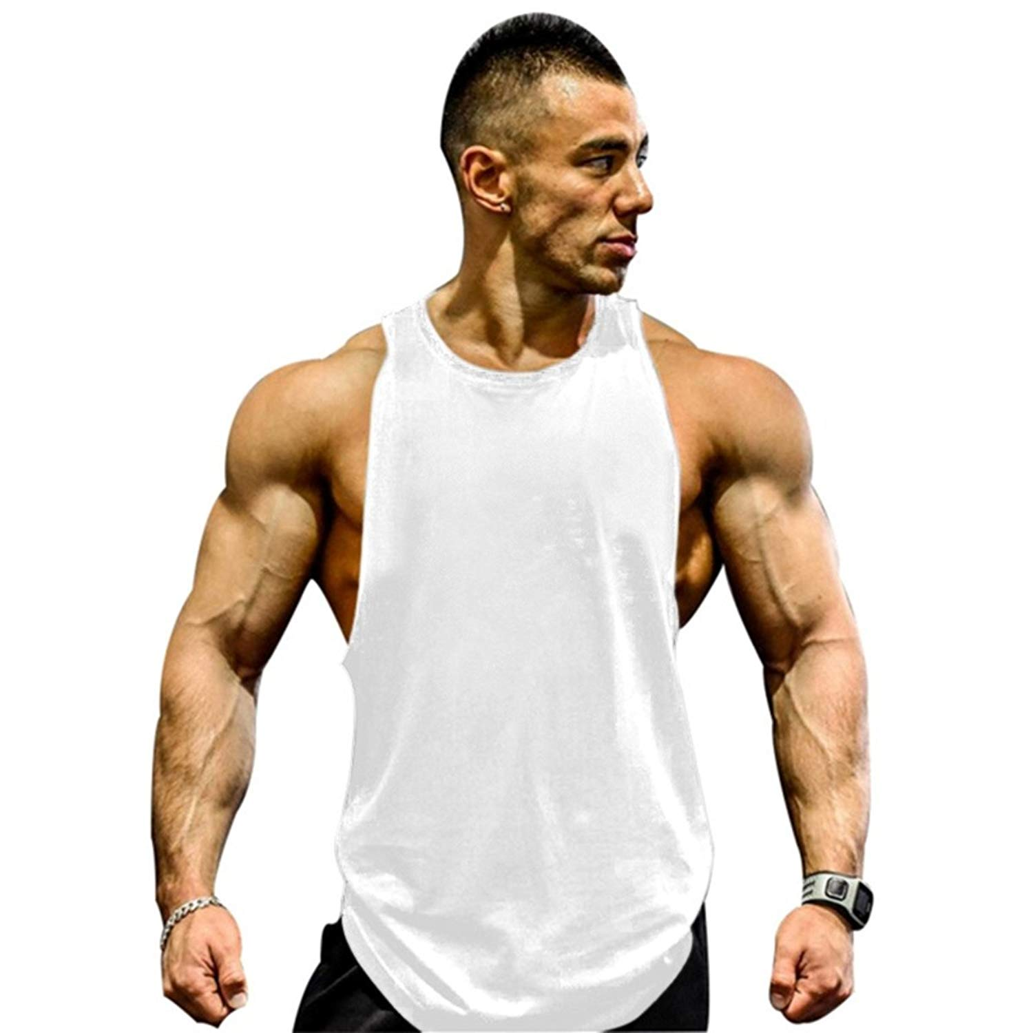 0536139d5cc Get Quotations · Muscle Killer Mens Gym Tank Tops Muscle Cut Stringer  Bodybuilding Workout Sleeveless Gym Shirts