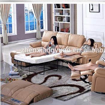 2018 Living Room Furniture L Shape Leather Sofa Bed Recliner Sofa ...