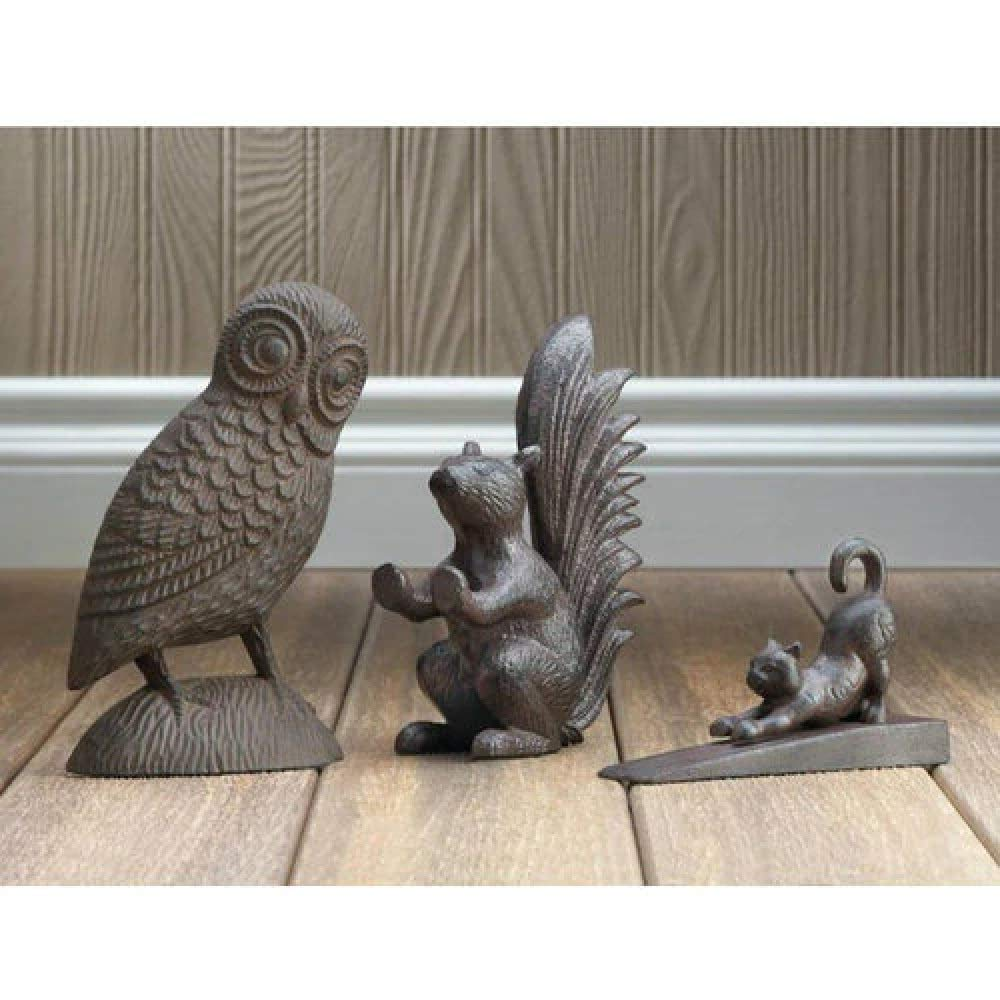 Door Squirrel Cast Iron Home Rustic Stop Garden BESTChoiceForYou