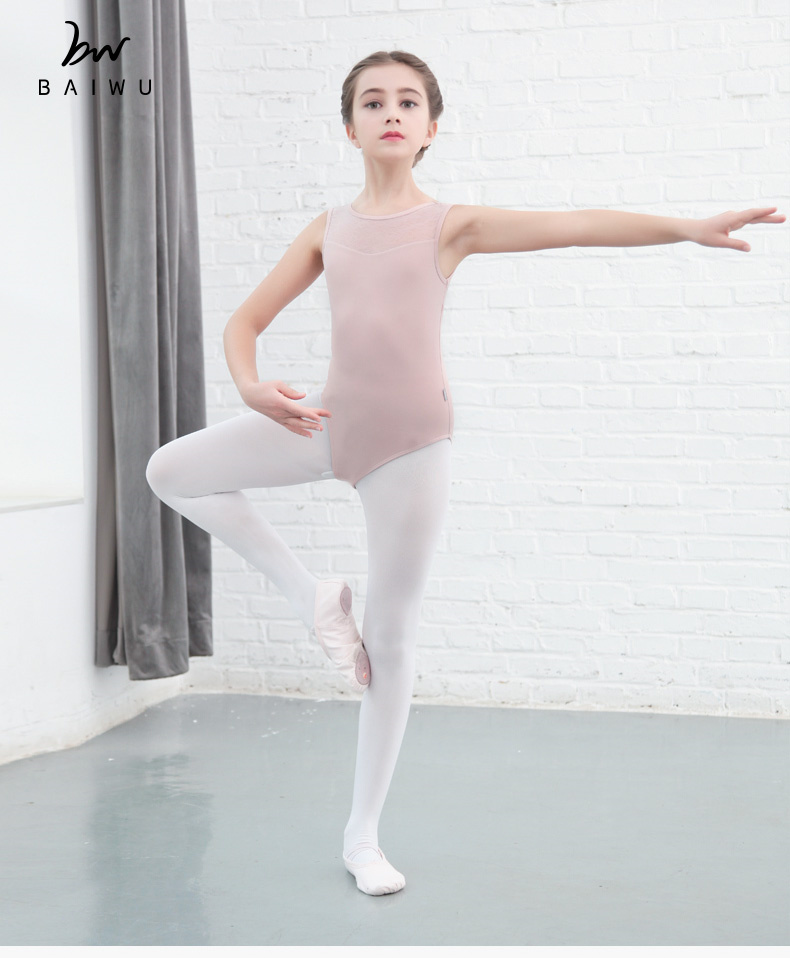 118241022 Tank Mesh Ballet leotards Kids Ballet Leotards