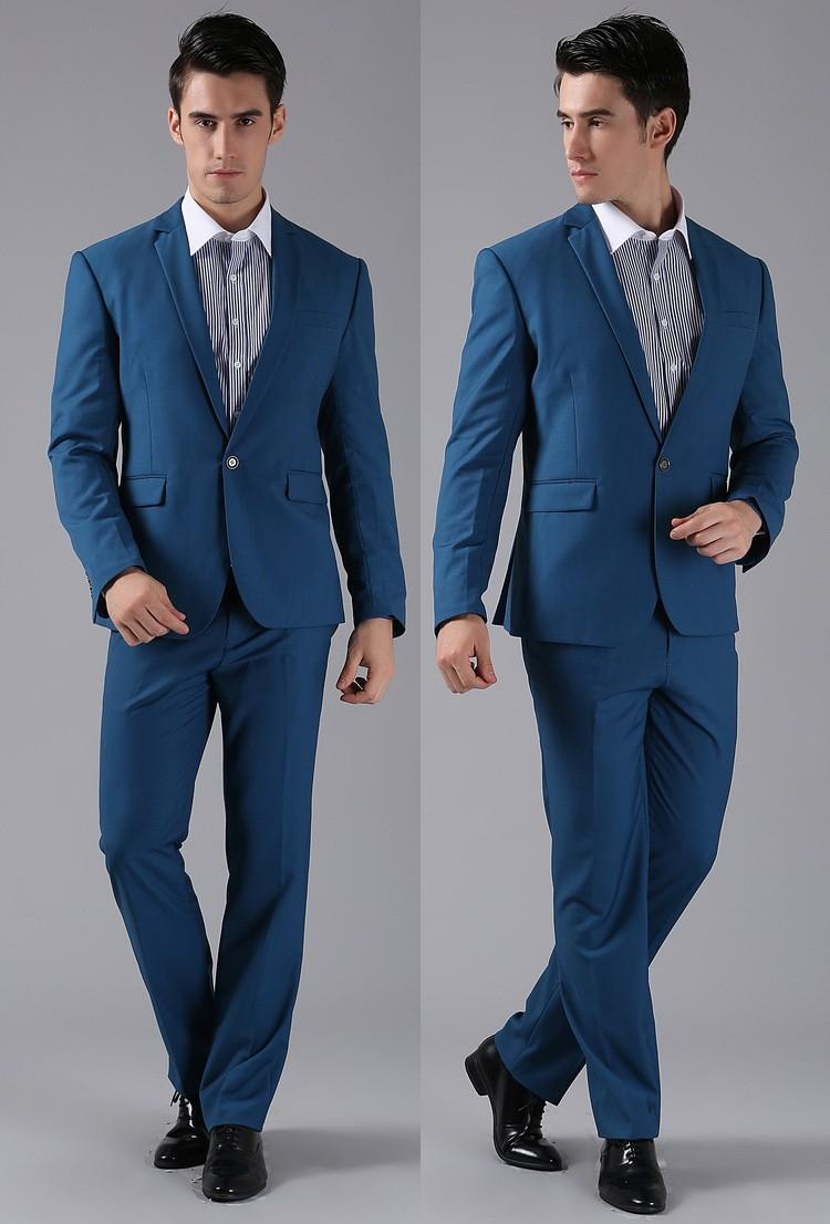 (Kurtki + Spodnie) 2016 Nowych Mężczyzna Garnitury Slim Fit Niestandardowe Garnitury Smokingi Marka Moda Bridegroon Biznes Suknia Ślubna Blazer H0285 61
