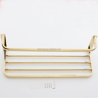 Household Hotel Commercial Use Bathrooms Accessories Wall Mounted Gold Towel Rack BM610G Towel Shelf
