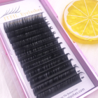 2019 high quality low price clear case private label silk false mink volume lahes extension 25mm 3d synthetic eyelashes