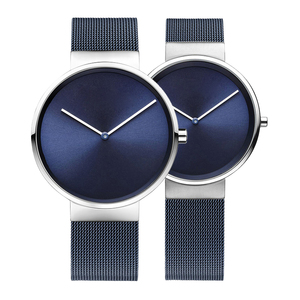 Minimal Japan Quartz Movt Mesh Band Couple Watches