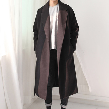 MS70960G Fancy design men long woolen autumn coat