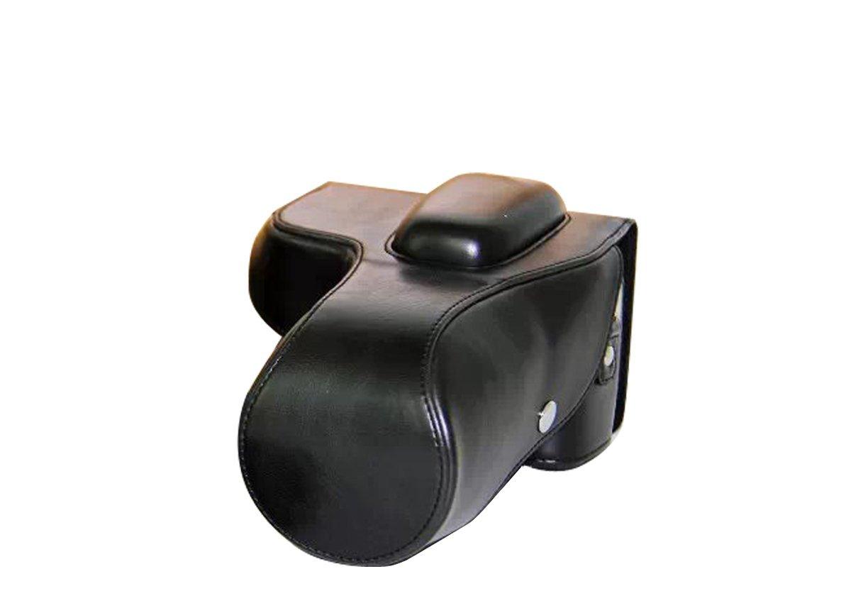 Black PU Leather DSLR Camera Bag Cover for Nikon D3100 D3200