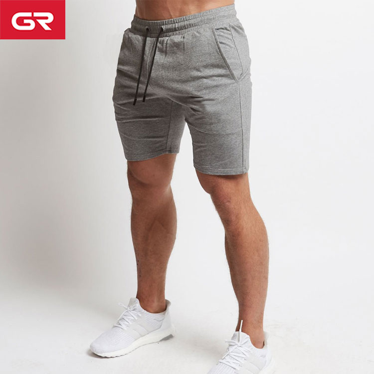 Hot Sale French Terry Active Wear Tapered Fit Mens Sweat Gym Shorts
