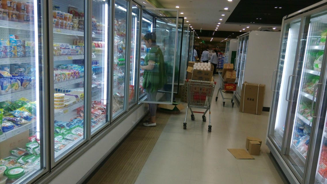 Supermarkt electric heated glass doors for walk in freezer/cooler glass doors