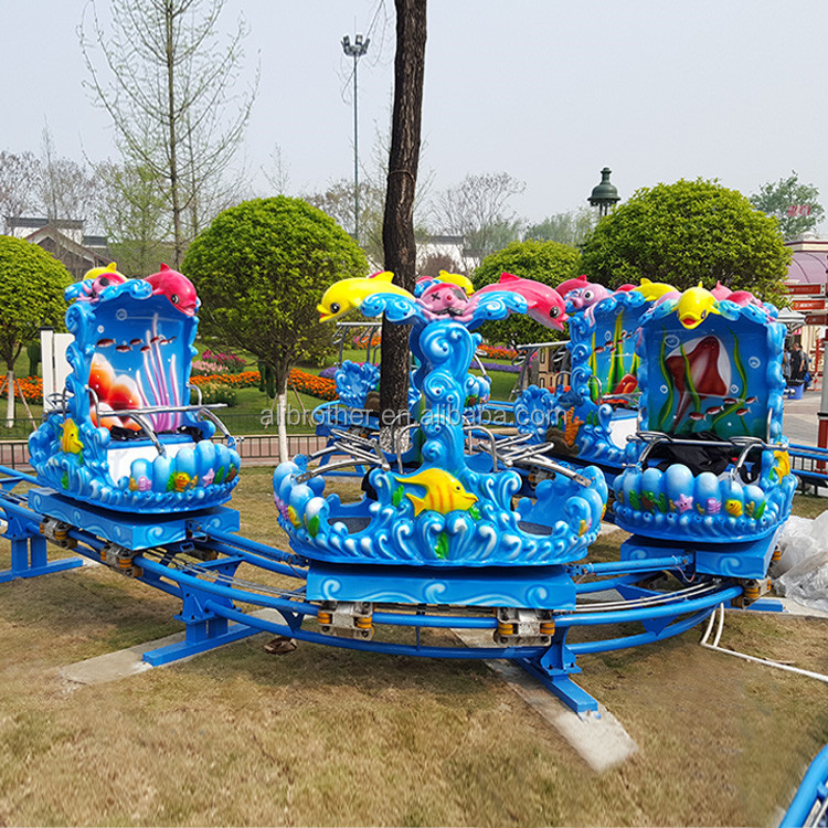 Children Indoor Ride Family Backyard Ocean Theme Roller Coaster Amusement Park Rides