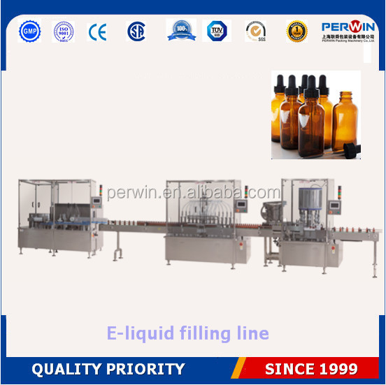 Best price PERWIN e-liquid/electronic cigarette liquid/eyedrop filler price,small bottle filling and capping machine