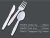 Ps04-162cm kids white knife fork spoon disposable plastic cutlery set