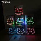 3V DIY Glow el masks DJ Marshmello led neon masks for celebration party ,concert