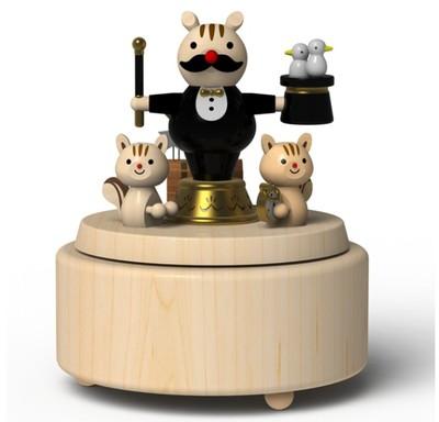 Wooderful жизнь маг ручной деревянные музыкальная шкатулка творческий подарок на день матери подарки
