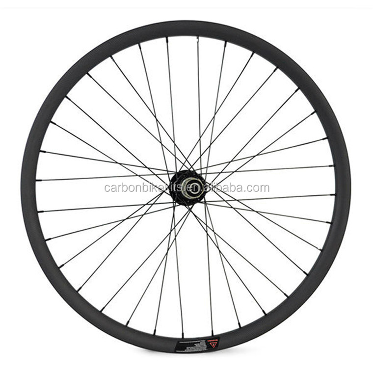 "CarbonBikeKits MTB 29"" carbon wheelset,carbon mountain bike cross country wheels 29er 27mm tubular XCB29-27T"