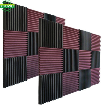 Wedge 1'' inches Sound Stop Absorption Sponge Studio KTV Soundproof Pad