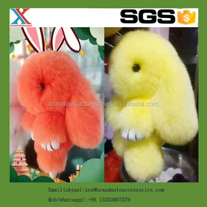 Hot sale cute rex <strong>rabbit</strong> accessory100% real rex <strong>rabbit</strong> fur car accessory