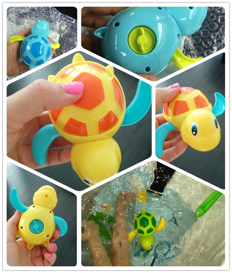 Toys & Hobbies New Arrival Born Babies Swim Turtle Wound-up Chain Small Animal Baby Children Bath Toy Classic Toys