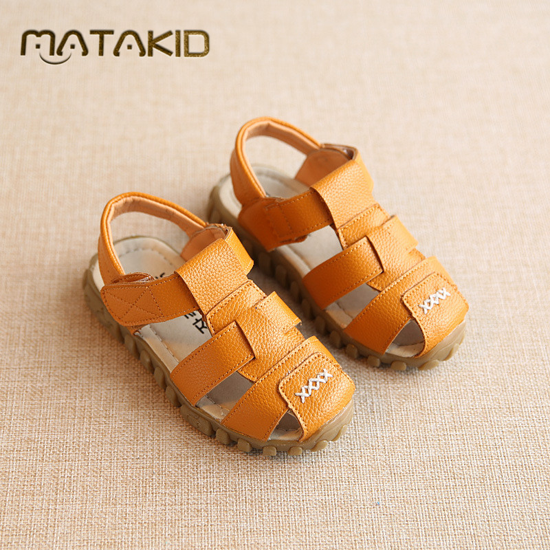 Hot Sale Male Childen Sandals Shoes baby Boys Sandals Summer comfortable breathable leather Boys shoes Hawaii