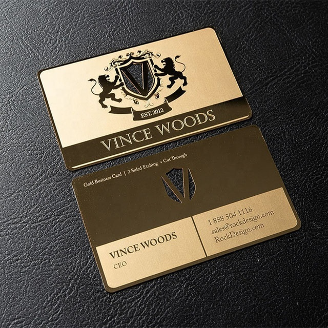 금 mirror metal business cards custom mirror stainless steel cards