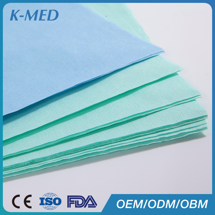 Disposable medical consumable double sided crepe paper factory price