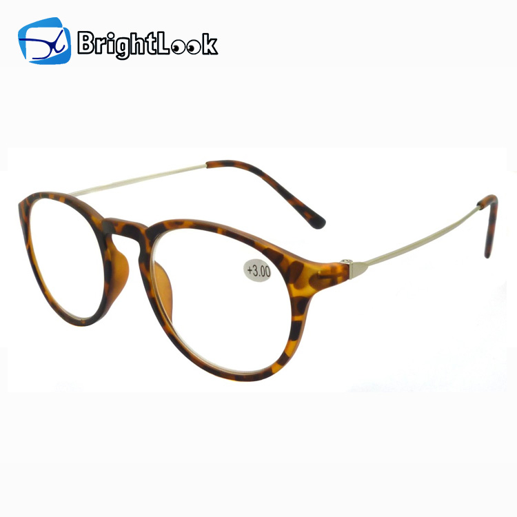 13e7ecc35968 Fashionable granny style round cat-eye frame glasses reading