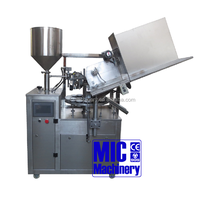 MIC-R30 silicon glue filling machine RTV silicone sealant filling machine aluminum tube filling machine with oil spray station