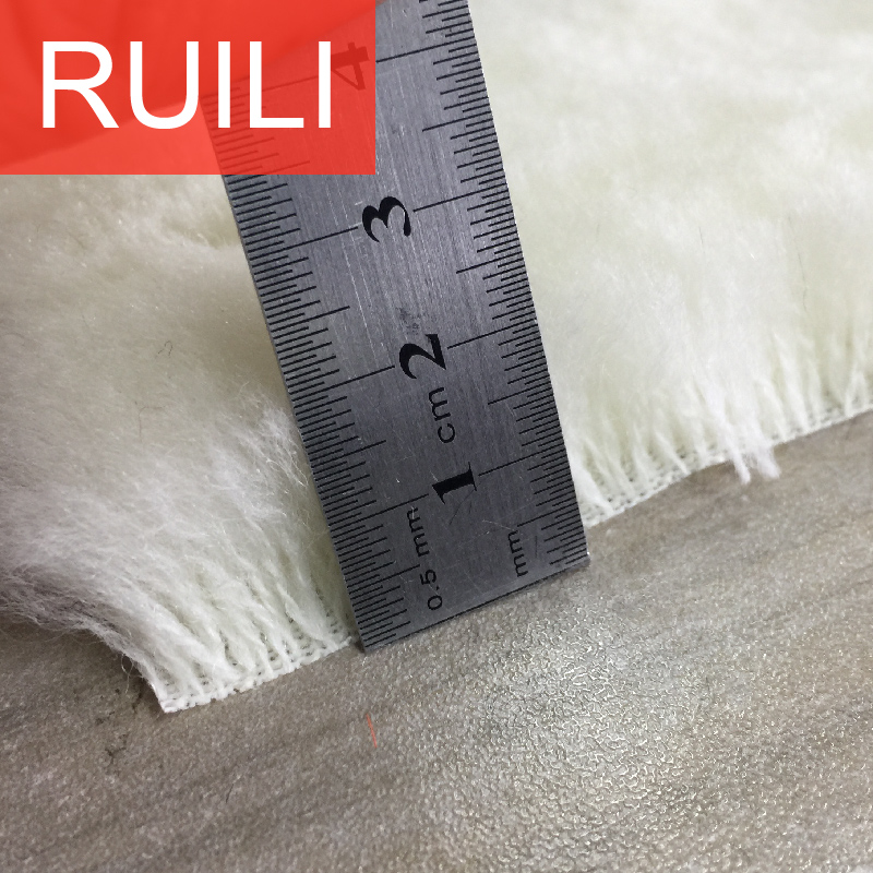 20mm pile height 100% wool plush fabric