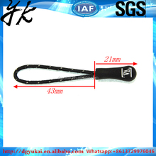 yukai popular design String Cord Silicon Rubber PVC Zipper Puller