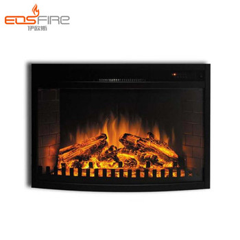 Remote Control Small Electric Wall Fireplace Black Electric