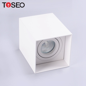 Mounted led ceiling down light fixture aluminium housing 90mm square surface mounted downlight