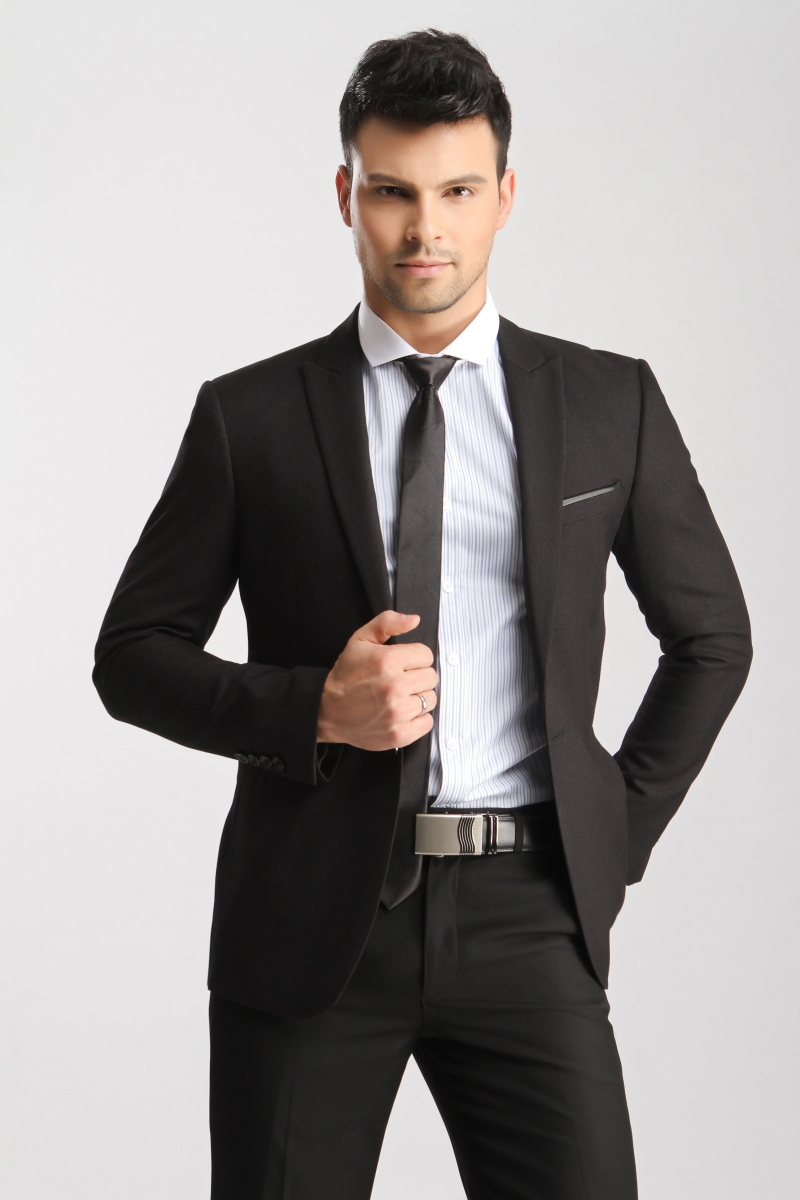 Black Suit Business Attire | Tulips Clothing