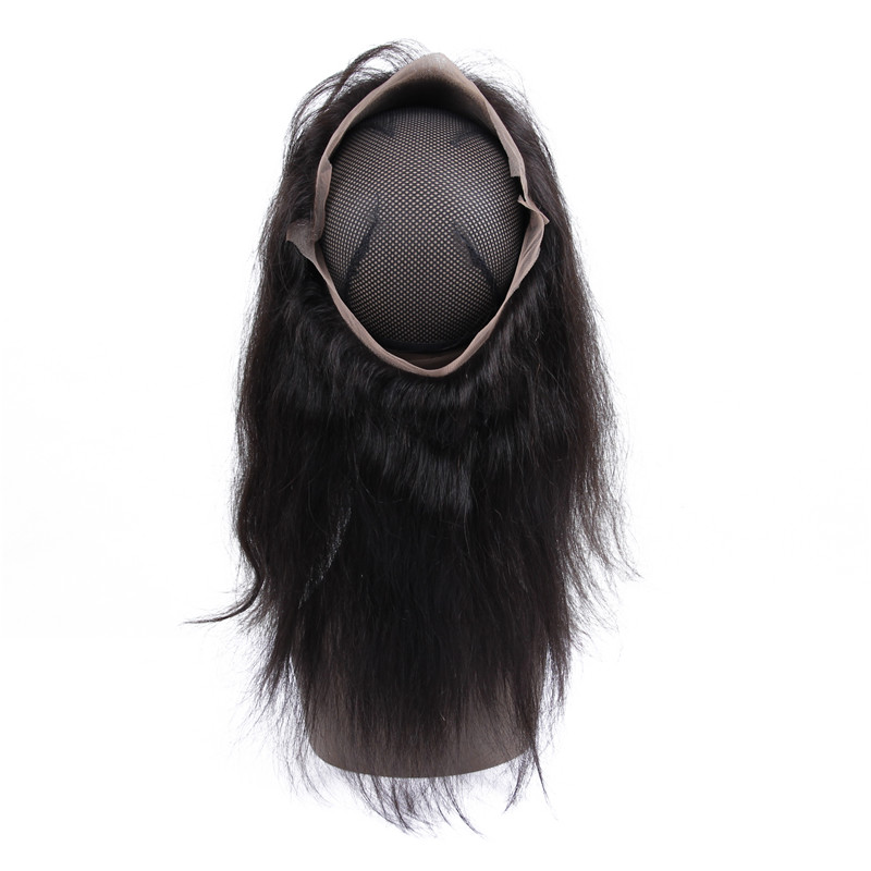 lace band frontal lace closure piece with bundles cheap human hair with 360 lace band