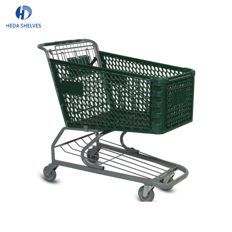 promotion small plastic shopping trolley for supermarket