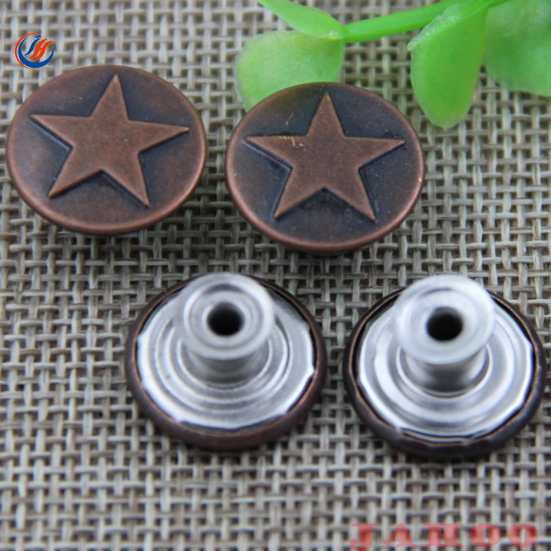 Customized Jeans Button Jacket Metal Buttons