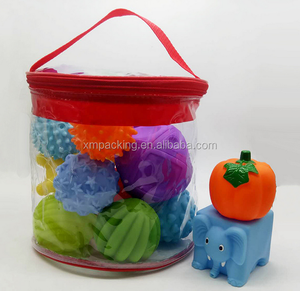 Round Bottom Clear PVC Zipper Toy Bags