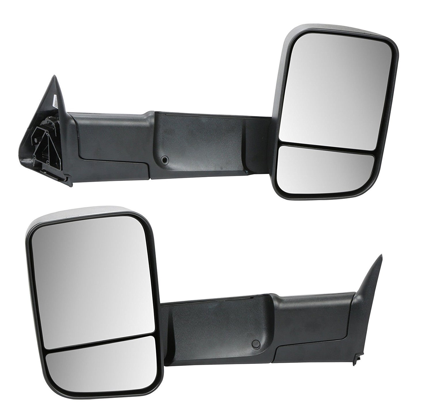 MOSTPLUS M91101 Towing Mirrors for Dodge Ram 1500 2500 3500 LH & RH Manual Flip Up Set