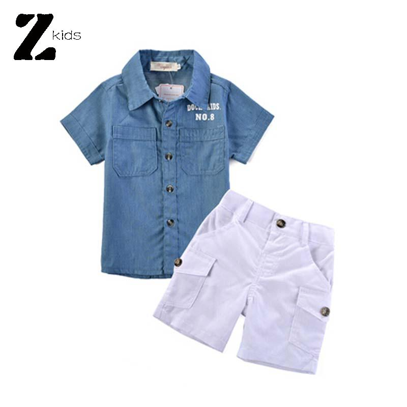 Summer Style Baby Boy Clothing Set Brand Children T Shirts +Shorts Casual 1-6 Years Cotton Clothing Kids Fashion Vetement Garcon