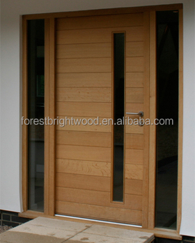 Modern new design front wooden main doors buy front for New wooden front door designs