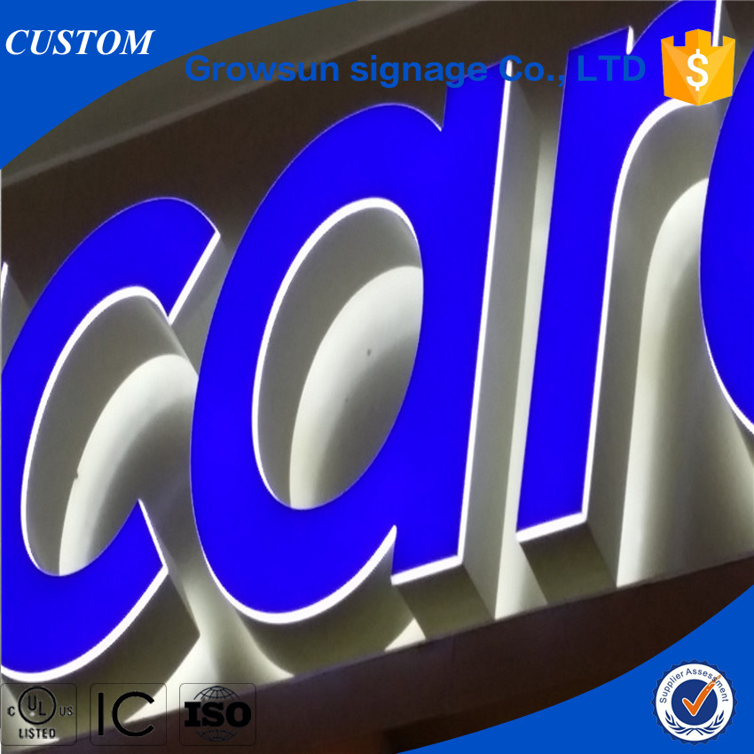 High Bright Advertising logos LED Signs Channel Letters Signboard Designs Customized