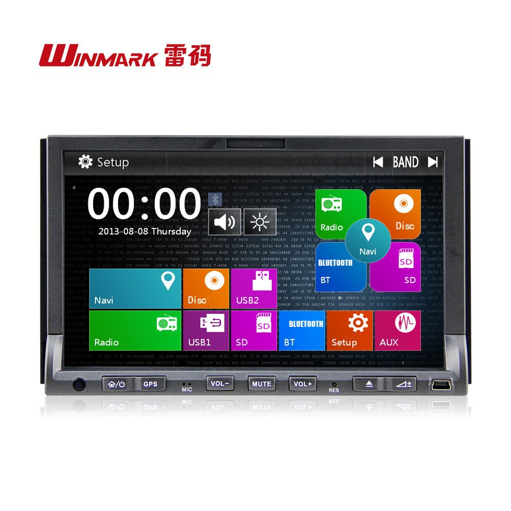 "7"" universal in-dash Car DVD player with Bluetooth GPS IPOD"